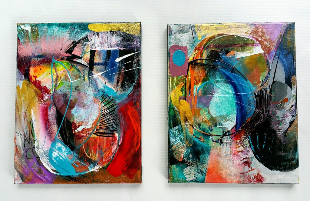 No title, dyptych, 2017 8 x 10 Acrylic on canvas.